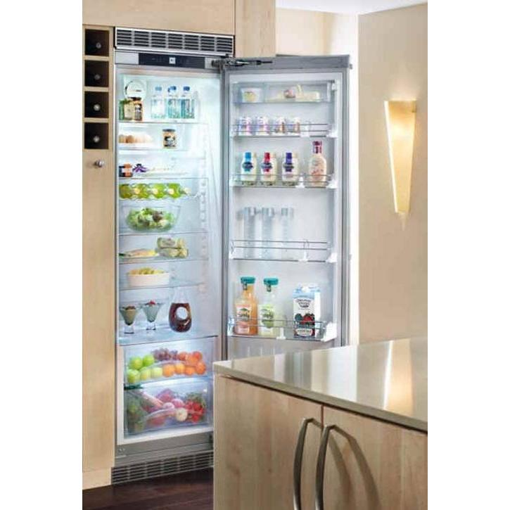 Liebherr RBI-1410 11.9 Cu. Ft. Capacity Built-In Custom Panel Refrigerator - Custom Panel Door / Stainless Steel Cabinet