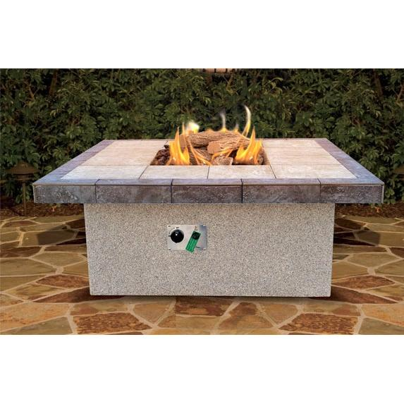 Cal Flame 48 X 20 Inch Outdoor Natural Gas Square Firepit
