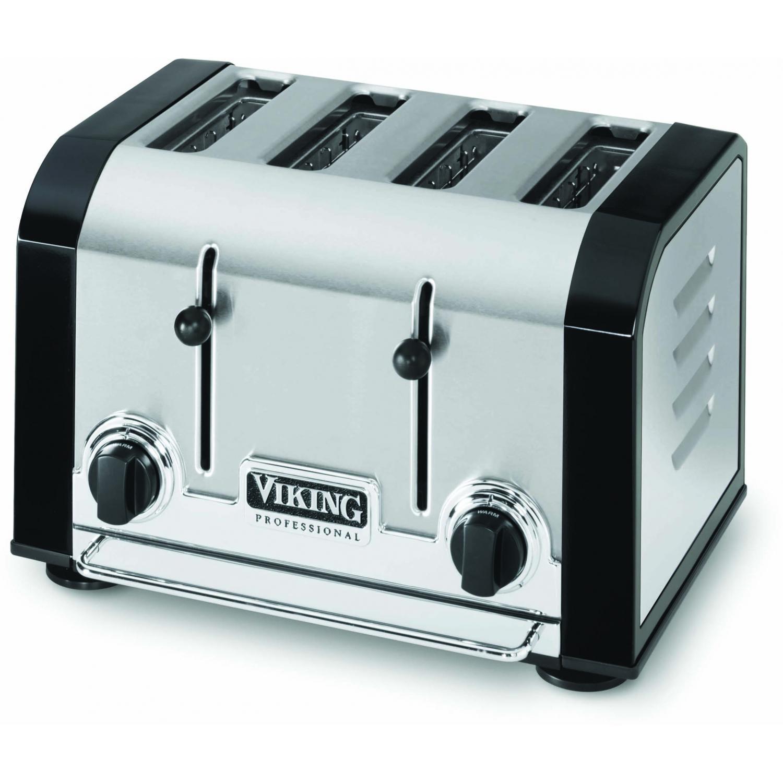 Viking VT401BK Professional 4-Slot Toaster - Black