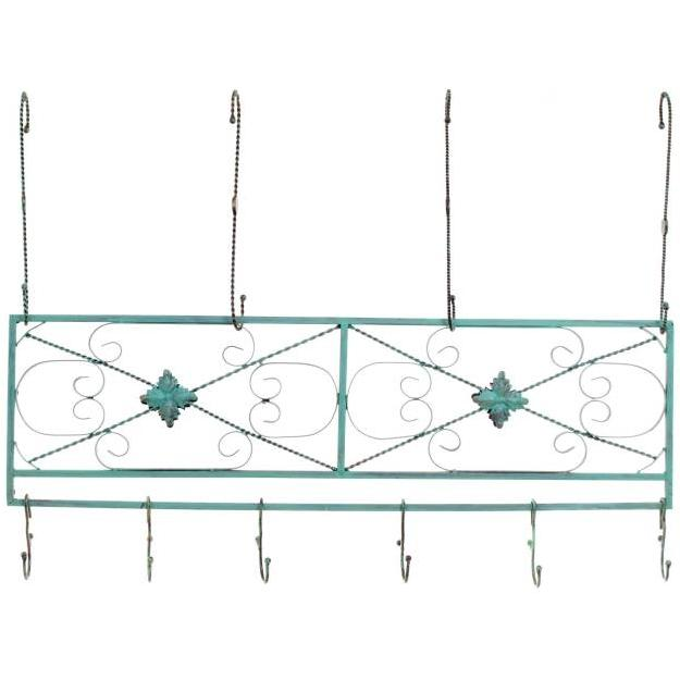 Old Dutch Hanging Beam Pot Rack 36x10 - Verdigris