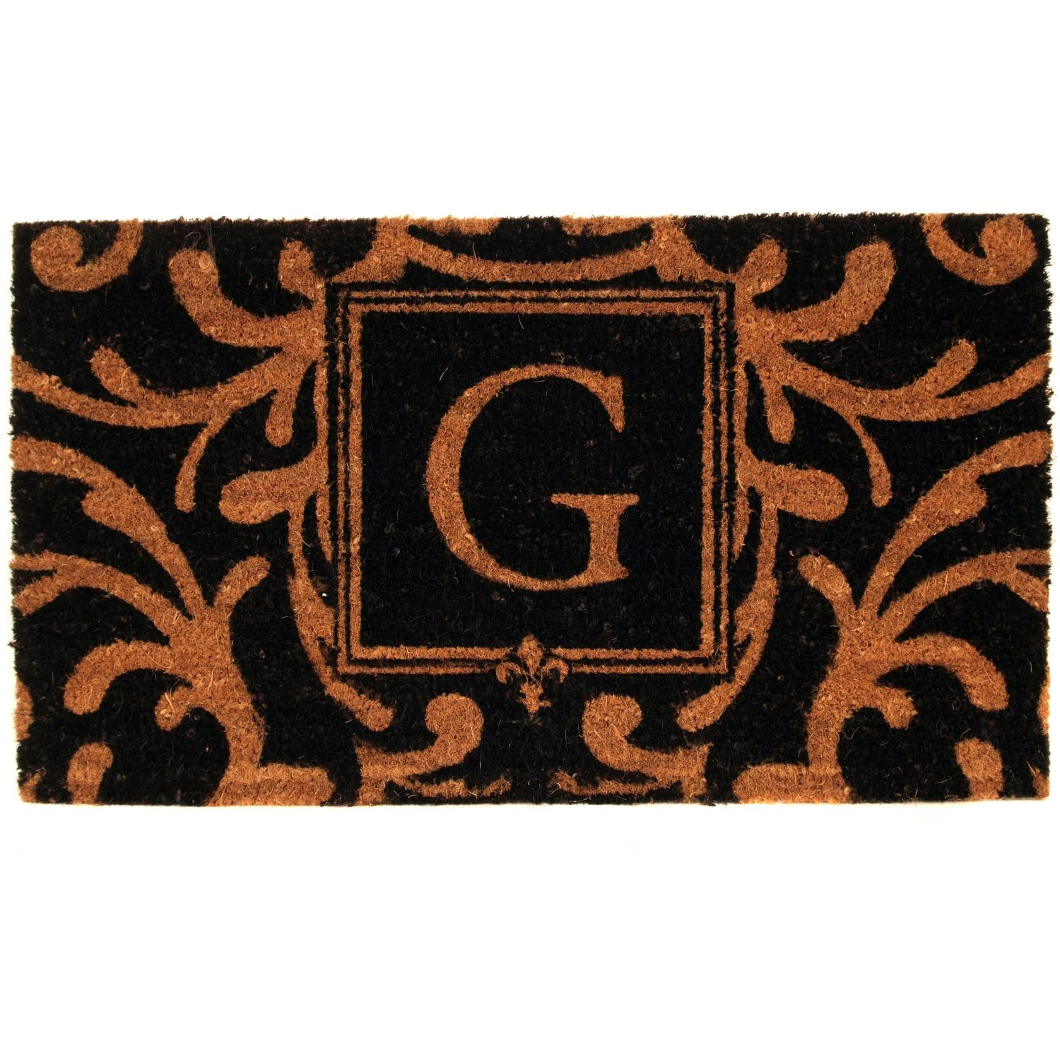 Picture of Evergreen Classic Block Monogram Coir Door Mat - Letter G