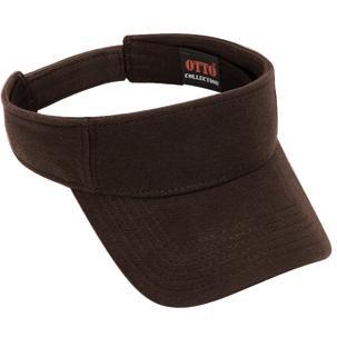 Otto Cap Comfy Cotton Pique Knit Sun Visor - Dk. Brown