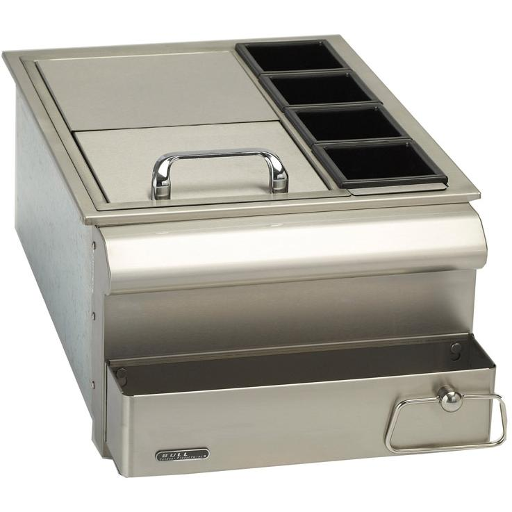 Bull 18-Inch Stainless Steel Slide-In Bar Center W/ Ice Chest