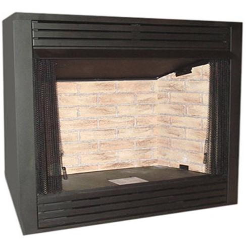 Monessen GCUF32C-F 32-Inch Louvered Circulating Vent-Free Firebox With Cottage Clay Firebrick