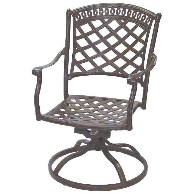 Darlee Sedona Cast Aluminum Outdoor Patio Swivel Rocker - Mocha