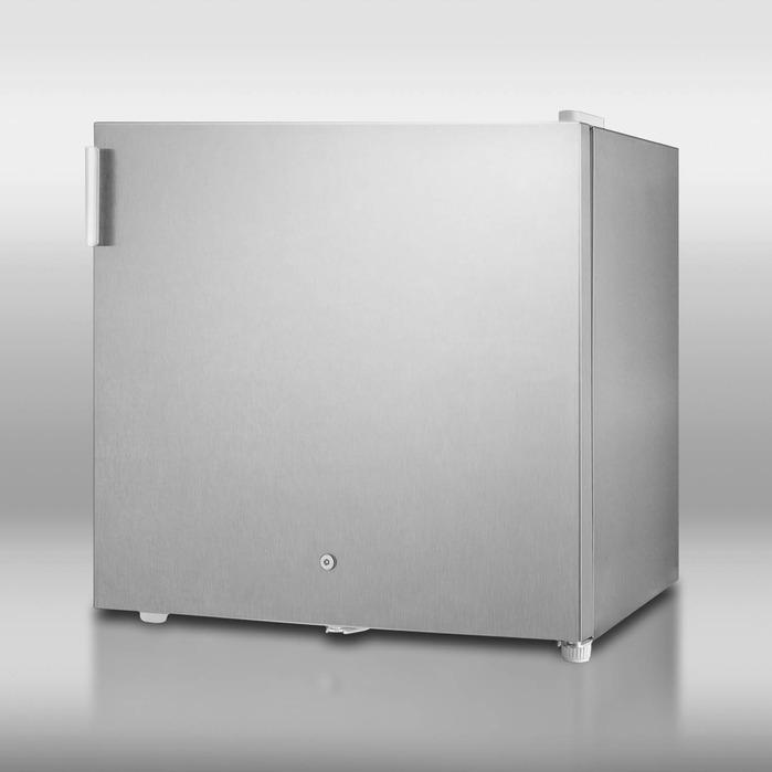 Summit FS20LCSS 1.6 Cu. Ft. Capacity Cube Freezer - Stainless Steel