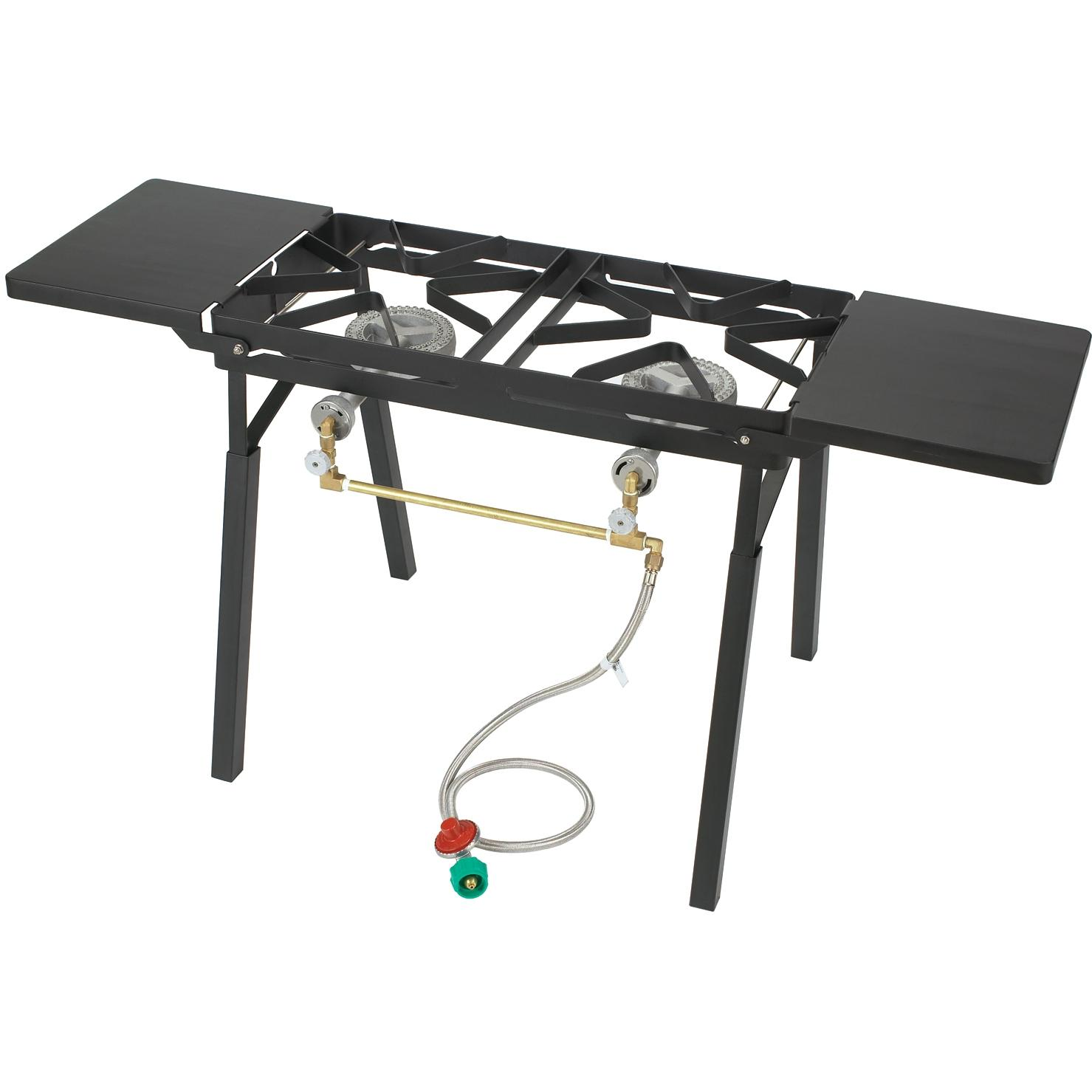 Bayou Classic Black Outdoor Stove With Dual Low Pressure Gas Burners