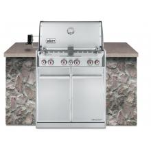 Weber Summit S-460 Built-In Natural Gas Grill With Rotisserie & Sear Burner