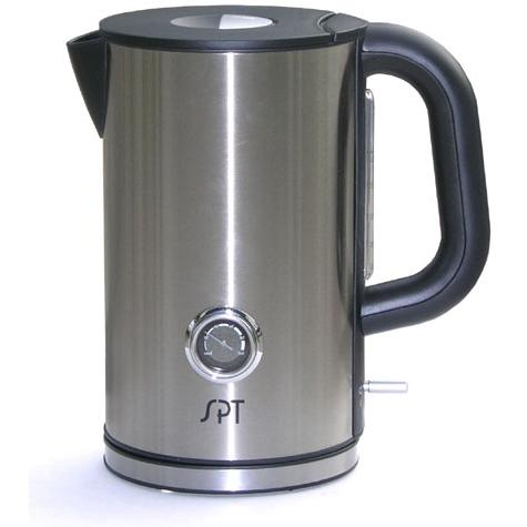 Sunpentown Electric Kettle Stainless Steel 1.7 Liter Capacity With Temperature Display - SK-1717