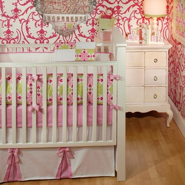New Arrivals Crib Bumper - Pink Sugar