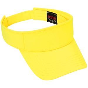 Otto Cap Comfy Cotton Jersey Knit Sun Visor - Light Yellow