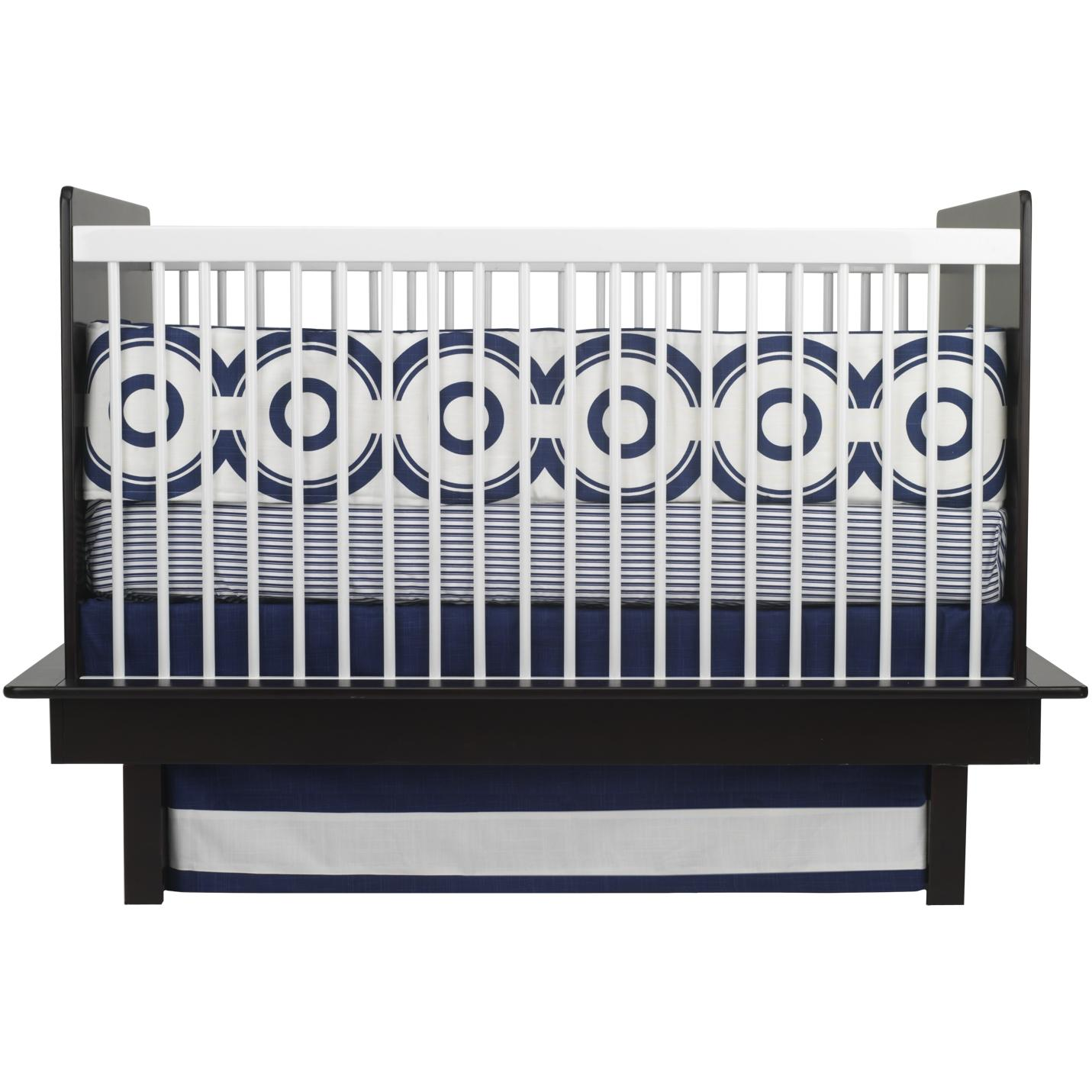 Oilo Crib Sheet - Wheels Cobalt