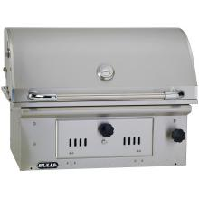 Bull Bison 30-Inch Built-In Stainless Steel Charcoal Grill - 67529