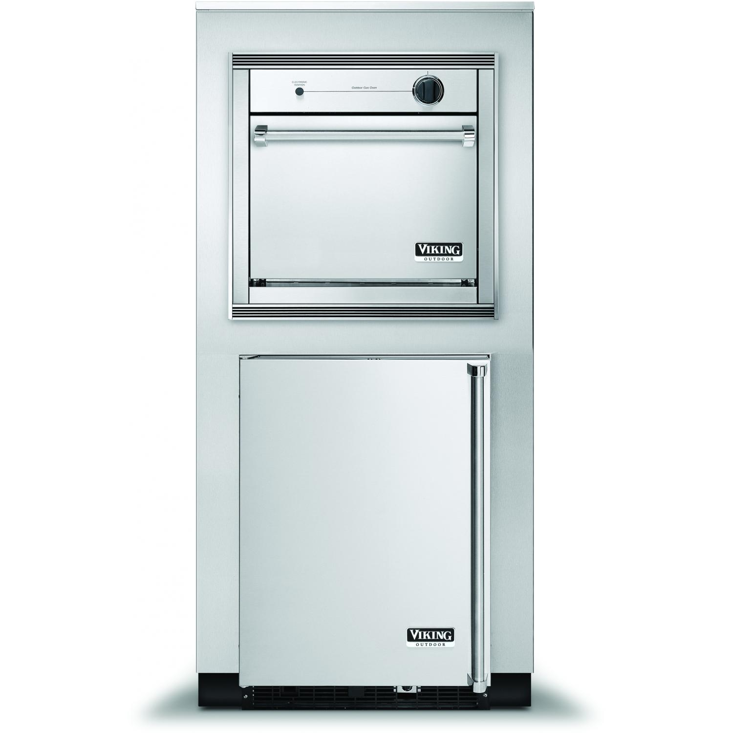 Viking VGSO260TLSS 26-Inch Propane Outdoor Oven In Tower Cabinet With Beverage Center - Left Hinge