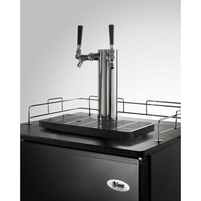 Summit SBC490TWIN Beer Dispenser - Black
