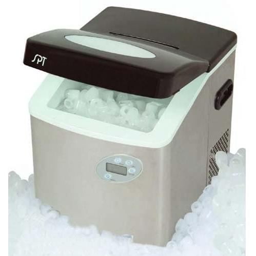 Sunpentown IM-101S 2.5 lb. Capacity Portable Compact Ice Maker With LCD - Stainless Steel