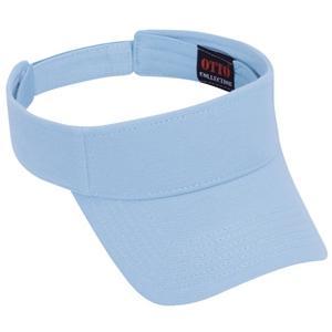 Otto Cap Comfy Cotton Pique Knit Sun Visor - Light Blue