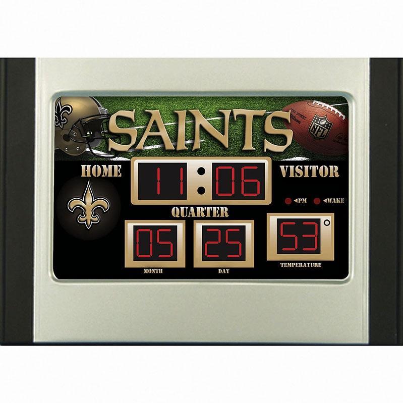 Evergreen Score Board Desk Clock - New Orleans Saints