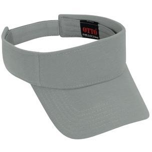 Otto Cap Comfy Cotton Pique Knit Sun Visor - Gray