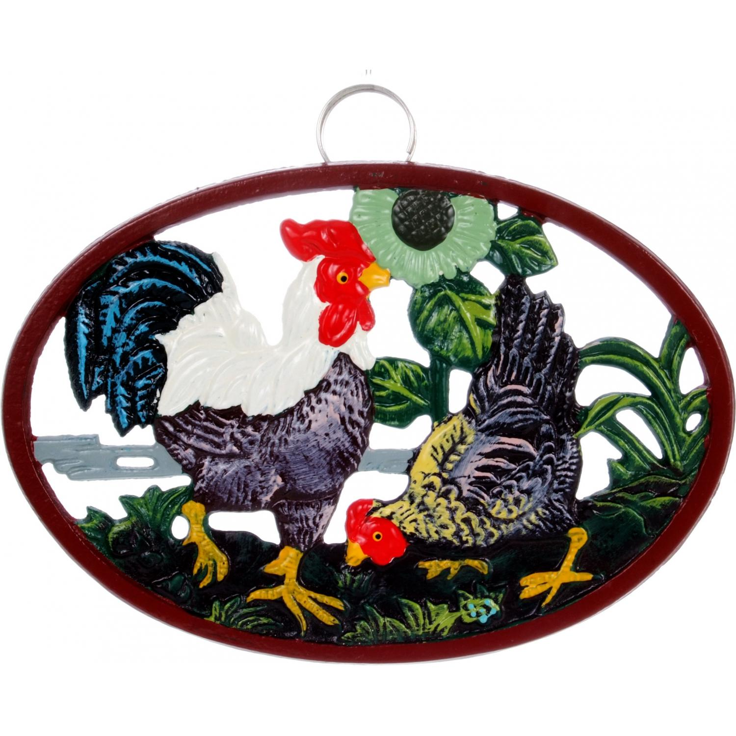 Picture of Cajun Cookware Trivets Hen And Rooster Cast Iron Trivet