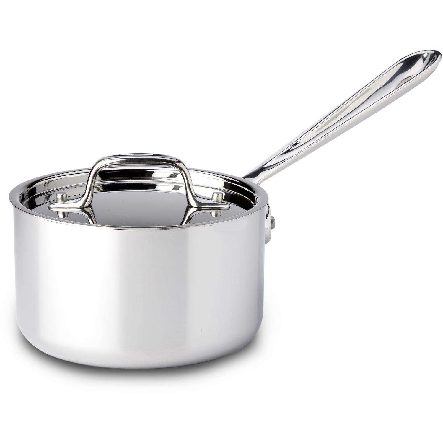 All-Clad Stainless 1.5-Quart Sauce Pan With Lid