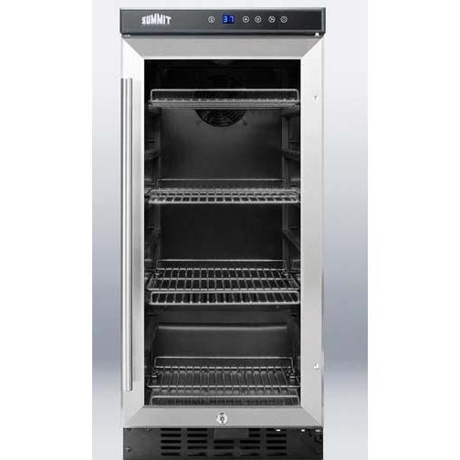 Summit SCR1536 15 Inch Built In / Freestanding Refrigerator - Glass Door / Stainless Steel Trim