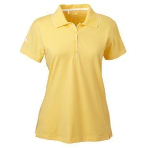 Adidas Golf Ladies ClimaLite Tour Jersey Short Sleeve Polo Shirt 2XL - Lemonade/White