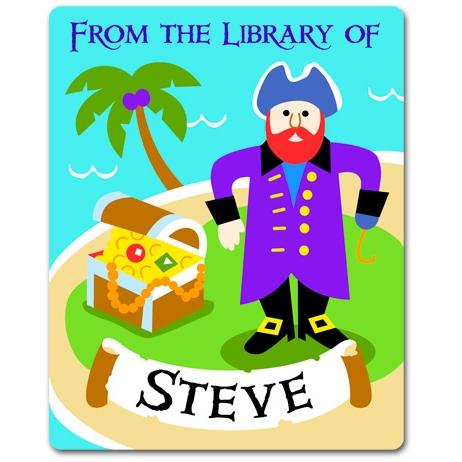 Olive Kids Personalized Book Plate - Pirates
