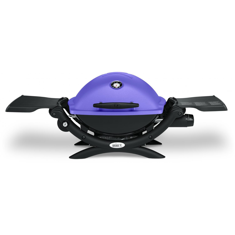 Weber Q 1200 Portable Propane Gas Grill Purple