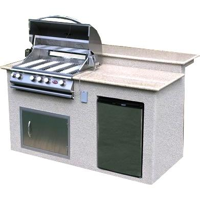 Cal Flame BBQ Island With 32 Inch Cal Flame Natural Gas BBQ Grill