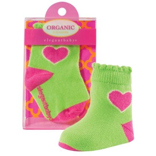 Elegant Baby Organic 1-Pair Sock Set - Bright Heart