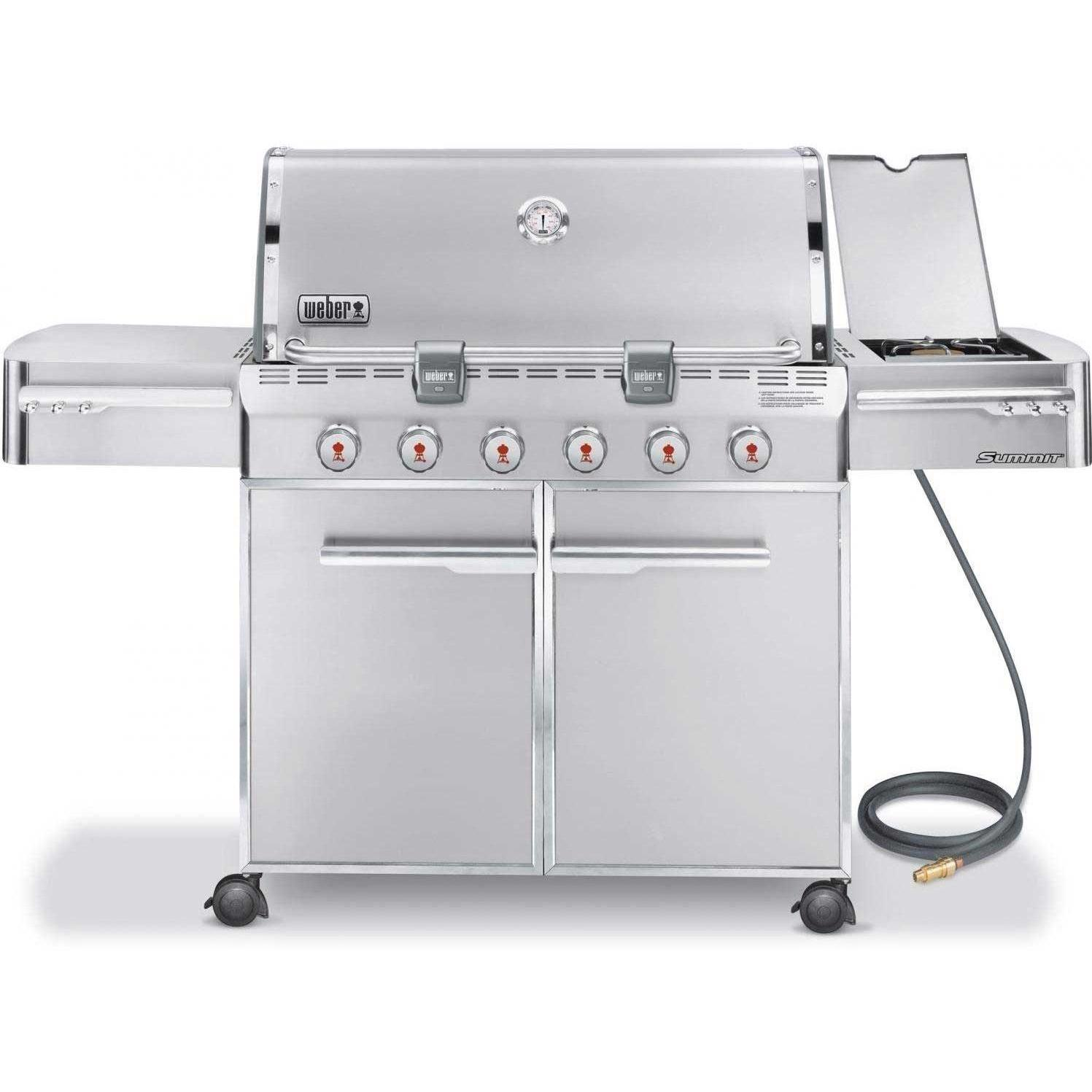 sales for weber summit s 620 natural gas grill on cart with side burner prices price llhowrll. Black Bedroom Furniture Sets. Home Design Ideas
