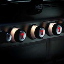 Weber Summit S-460 Built-In Natural Gas Grill With Rotisserie & Sear Burner Weber Summit Lighted Control Knobs