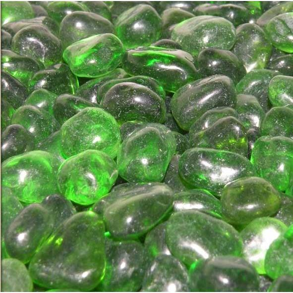 American Fireglass Jade Green Eco Fire Glass