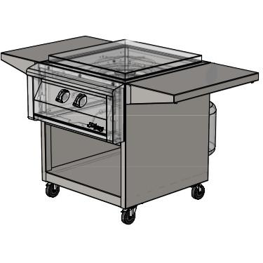 Picture of Alfresco 24-Inch Cart For Versa Power Cooker - AGVPC-C