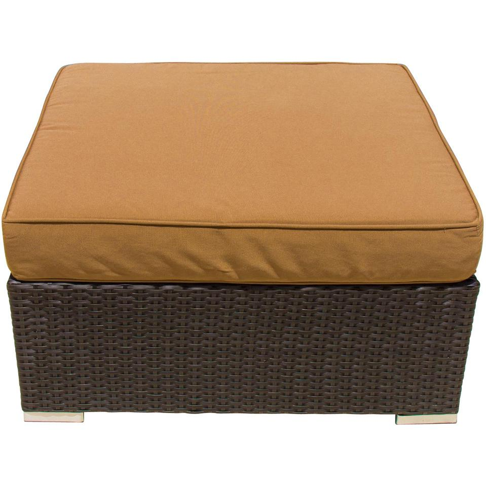 Picture of Avery Island Resin Wicker Large Patio Ottoman By Lakeview Outdoor Designs