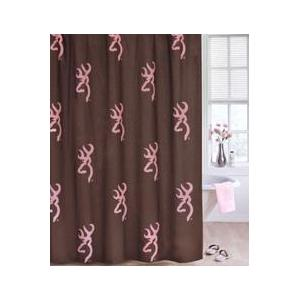 Browning Buckmark Pink Shower Curtain