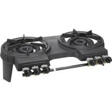 Portable Cast Iron Double Burner Full View