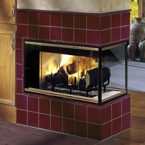 Monessen MPL11 Designer Series Peninsula Radiant Wood Burning Fireplace