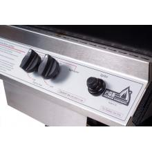 PGS A30 Cast Aluminum Propane Gas Grill On In-Ground Post Ignitor and Control Knobs