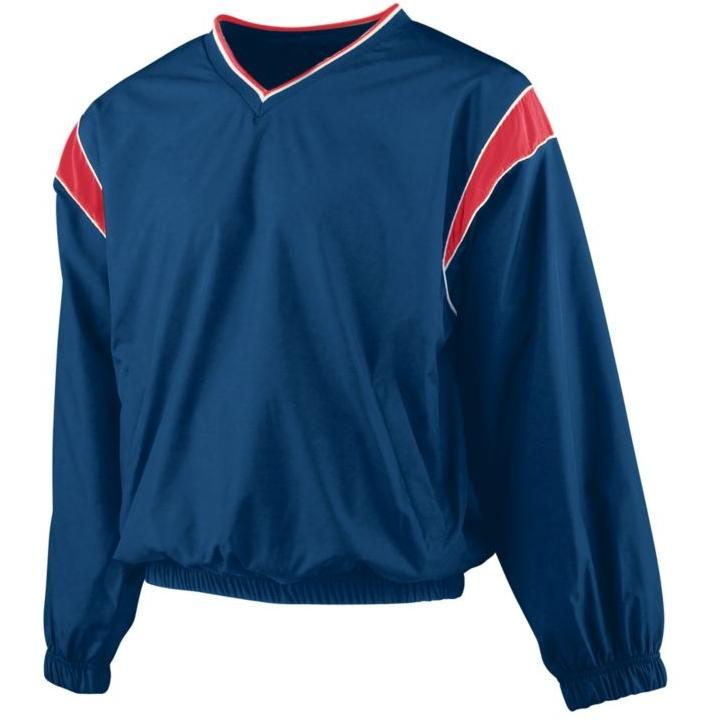 Augusta Micro Poly Windshirt 4XL - Navy/Red