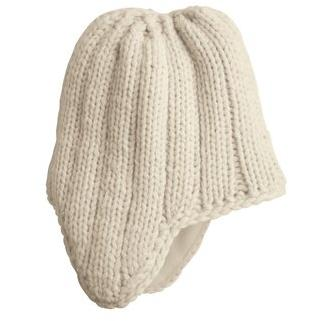 District Threads Chunky Knit Hat - Cream