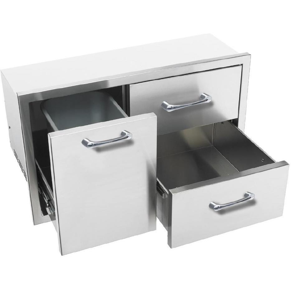 Picture of Caliber 36-Inch Double Access Drawer With Roll-Out Trash / Propane Tank Bin