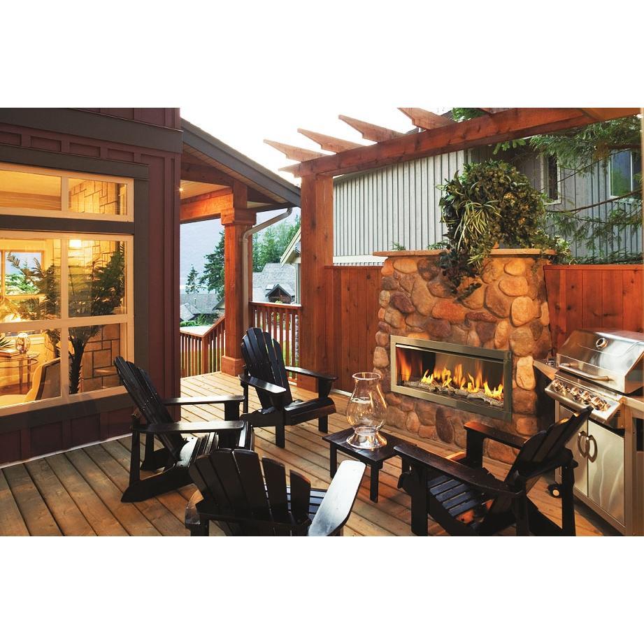 Firegear OD42 42 Inch Natural Gas Outdoor Fireplace Insert