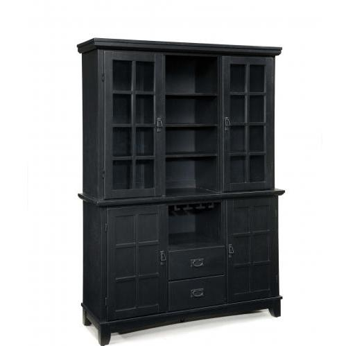 Home Styles Arts And Crafts Dining Buffet With Hutch - Ebony - 5181-697