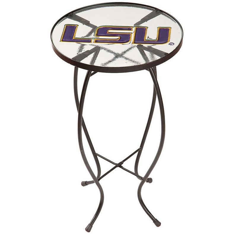 Evergreen Decorative Glass End Table - LSU