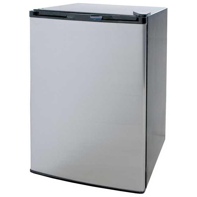 Cal Flame BBQ09849P Stainless Steel Refrigerator With Black Cabinet
