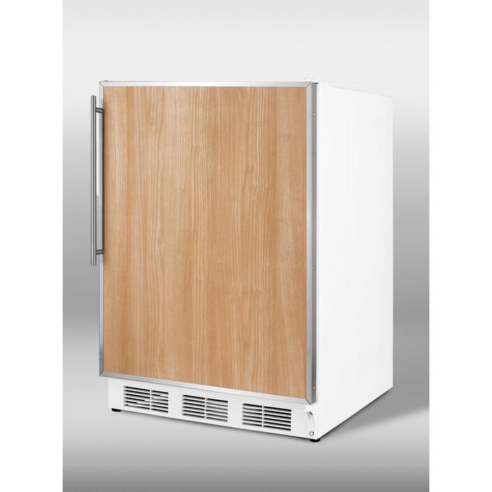 Summit ALFB621 3.2 Cu. Ft. Capacity ADA Compliant Freezer - Custom Panel Door / White Cabinet
