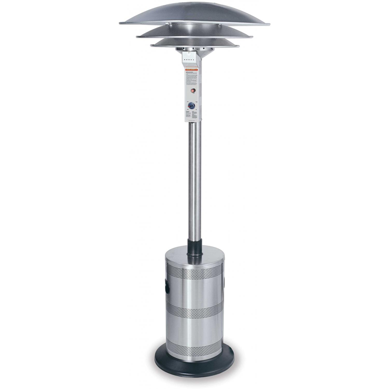 Endless Summer Patio Heaters Stainless Steel Commercial Triple Dome Propane Patio Heater