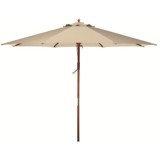 Bond Manufacturing Wooden Market Umbrella 9 Foot - Natural